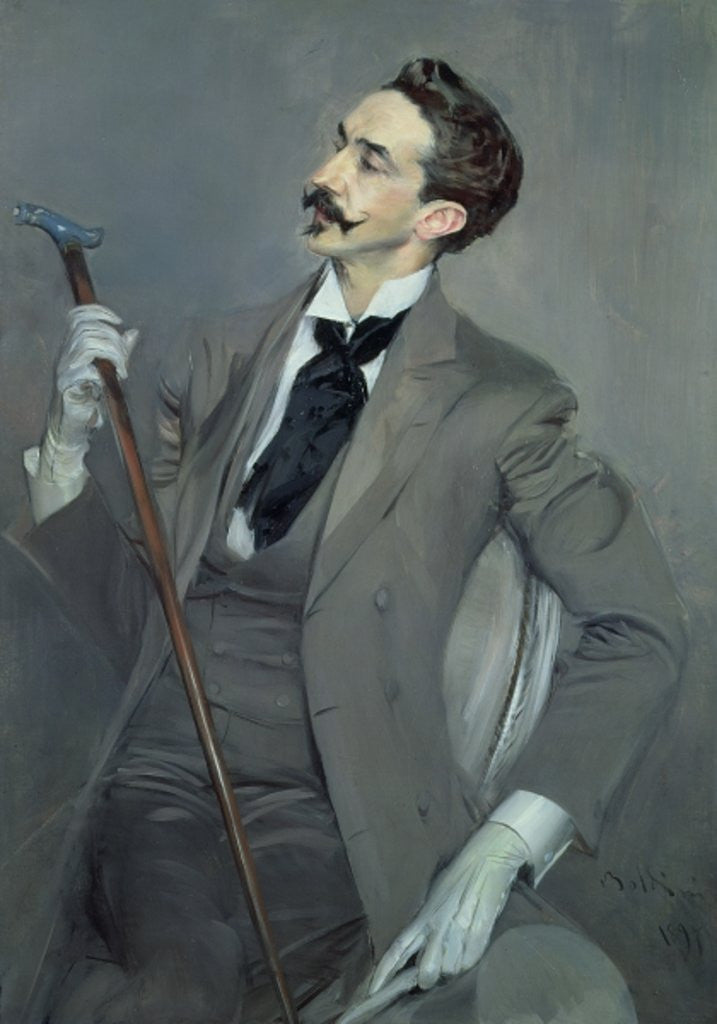 Detail of Count Robert de Montesquiou by Giovanni Boldini