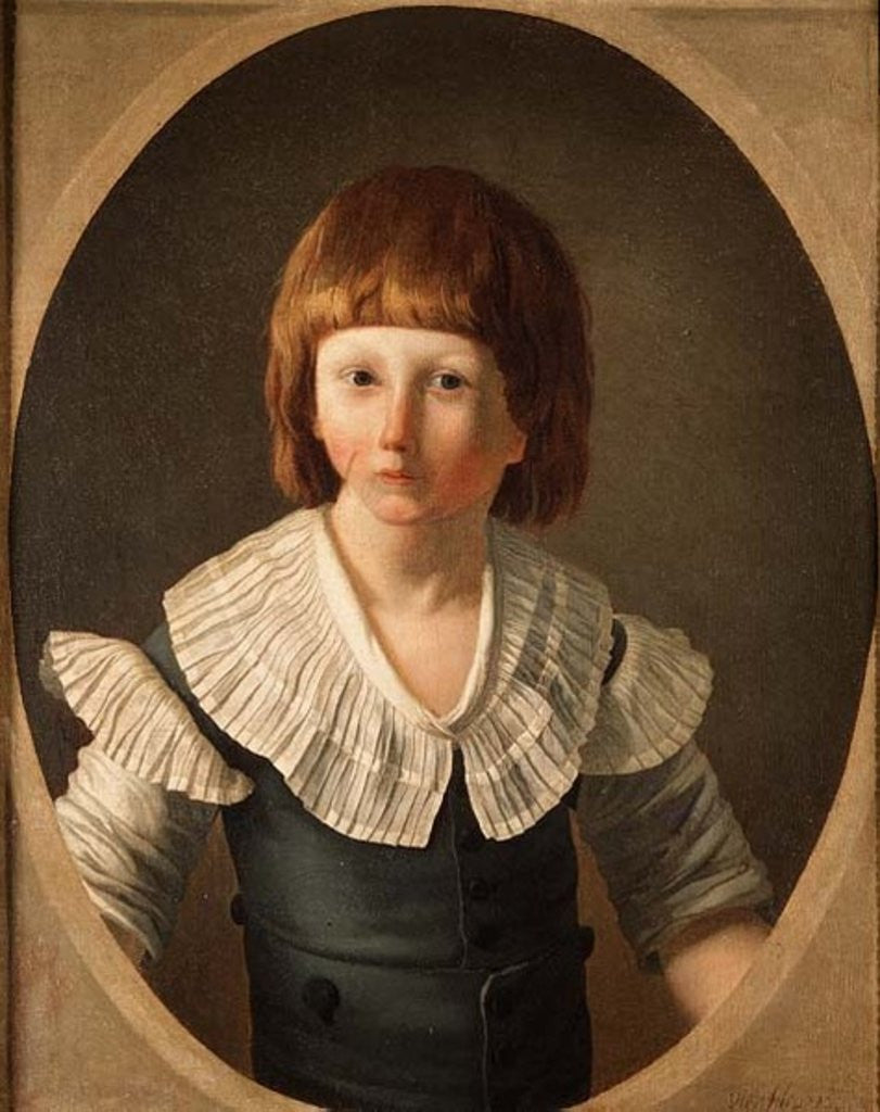 Detail of Louis XVII aged 8, at the Temple by Joseph-Marie the Younger Vien