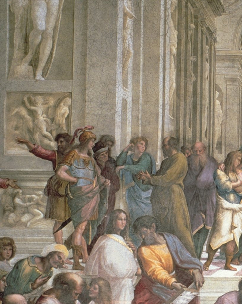 Detail of School of Athens by Raphael