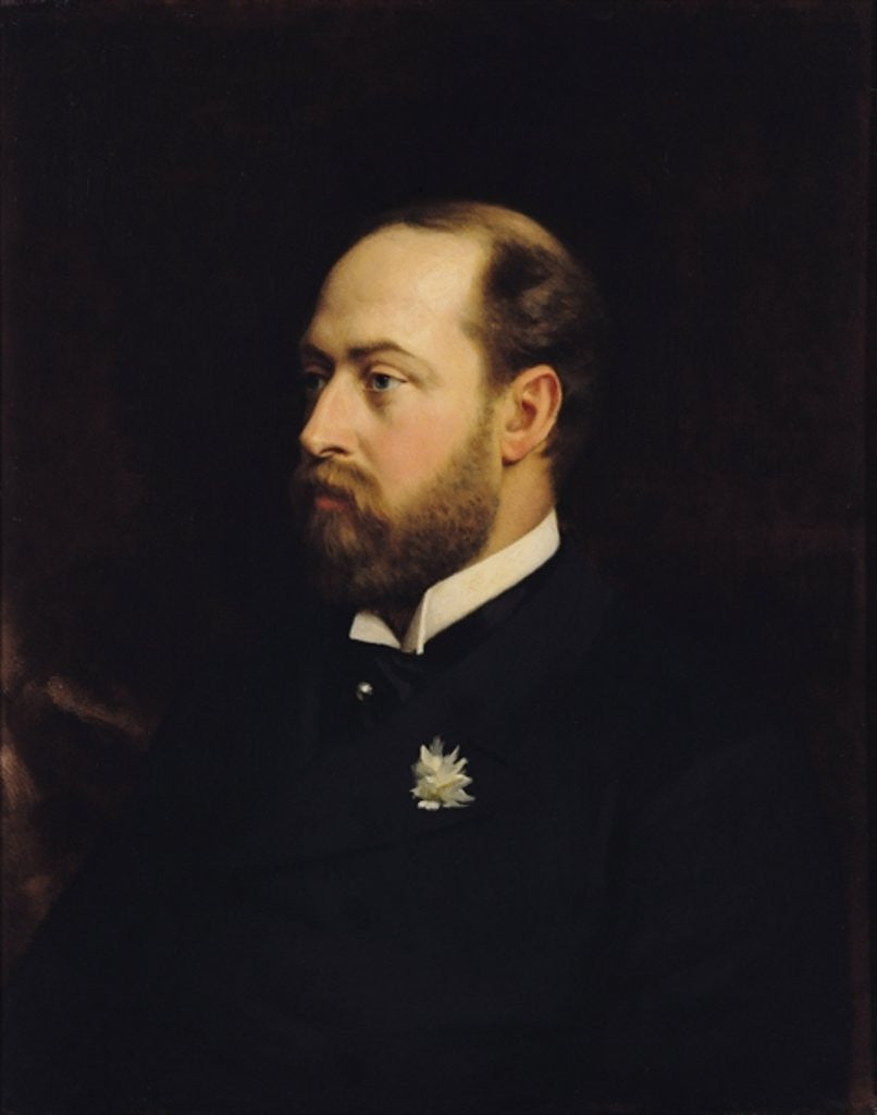 Detail of Edward VII by Michele Gordigiani