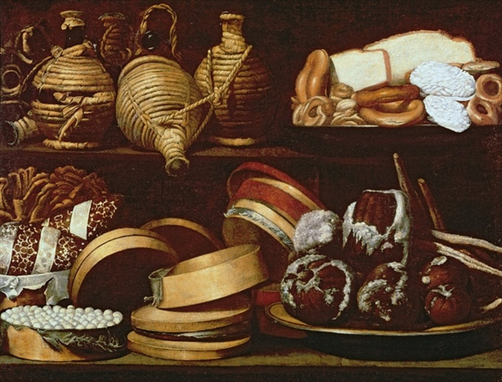 Detail of Dessert or The Confectioner's Sign by Spanish School