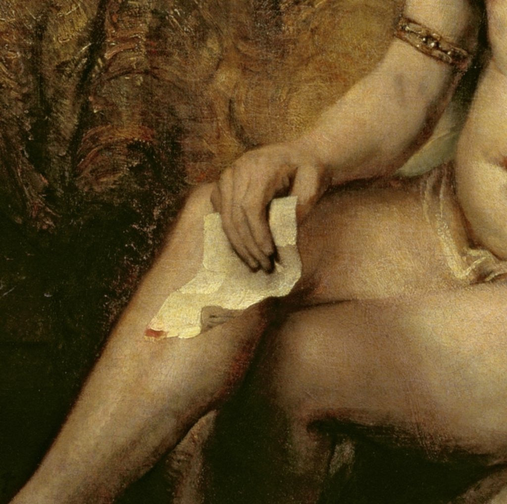 Detail of Bathsheba Bathing by Rembrandt Harmensz. van Rijn