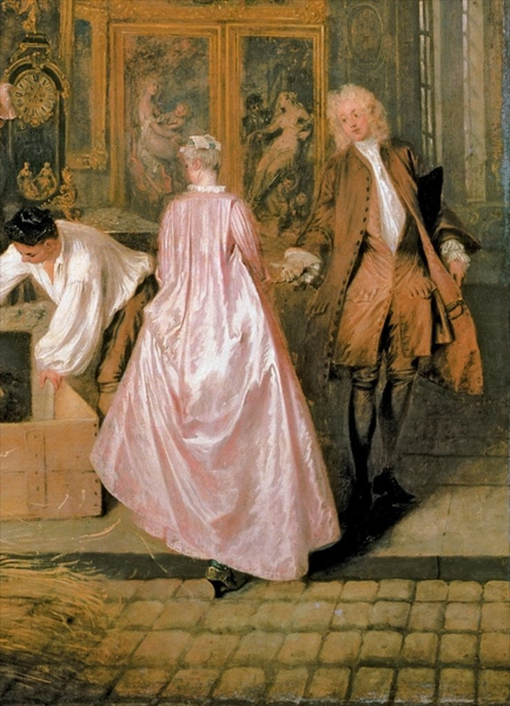 Detail of The Gersaint Shop Sign by Jean Antoine Watteau