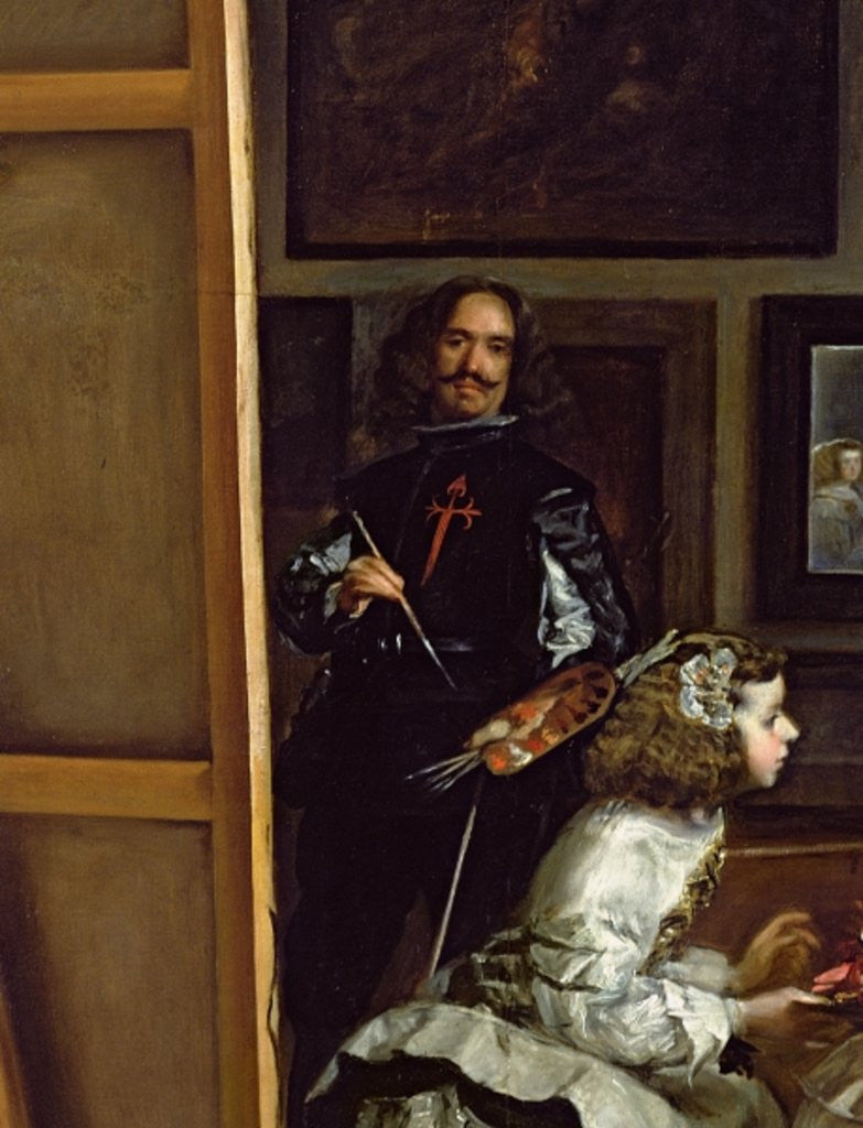 Detail of Las Meninas or The Family of Philip IV by Diego Rodriguez de Silva y Velazquez