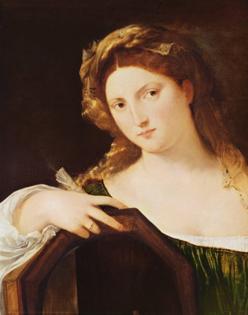 Detail of Detail of Allegory of Vanity, or Young Woman with a Mirror by Titian