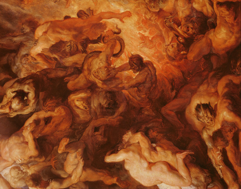 Detail of Detail of the 'Small' Last Judgement by Peter Paul Rubens