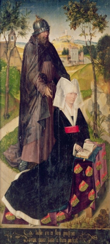 Detail of Guillemette de Montagu with Saint Guillaume by Rogier van der Weyden