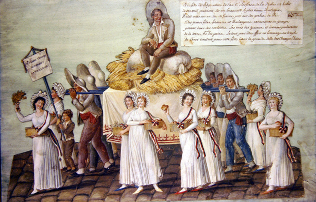 Detail of The Feast of Agriculture in 1796 at Paris by P. A. & Lesueur