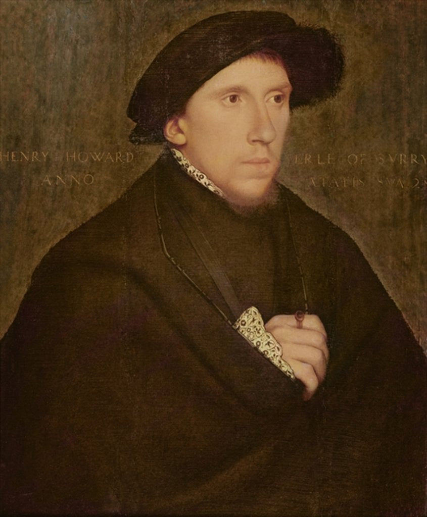 Detail of Henry Howard, Earl of Surrey by Hans Holbein The Younger