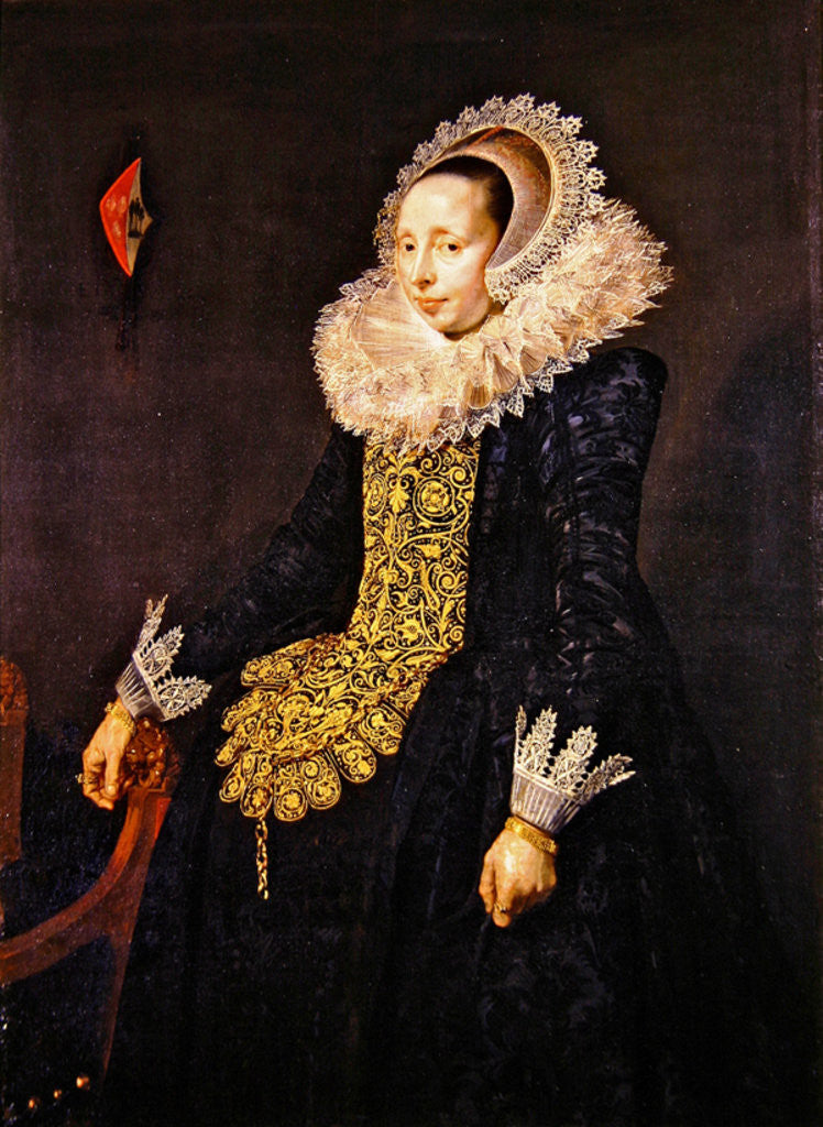 Detail of Catarina Both van der Eem by Frans Hals