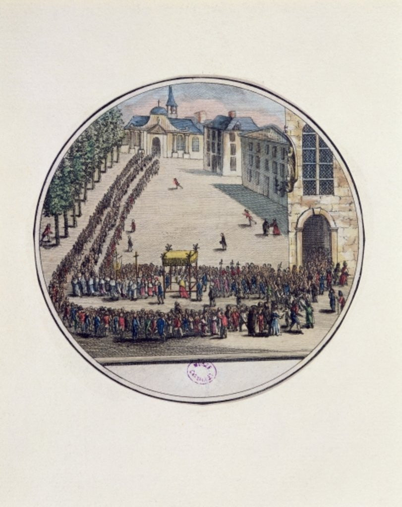 Detail of The Blessed Sacrament being carried in Procession at the Opening of the Estates General at Versailles by French School