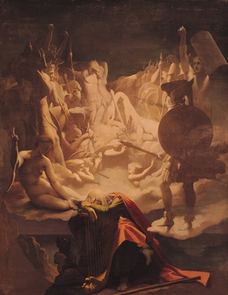 Detail of The Dream of Ossian by Jean Auguste Dominique Ingres