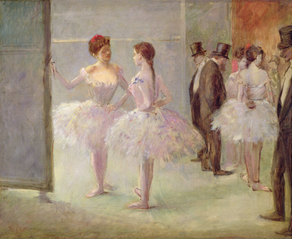 Detail of Dancers in the Wings at the Opera by Jean Louis Forain