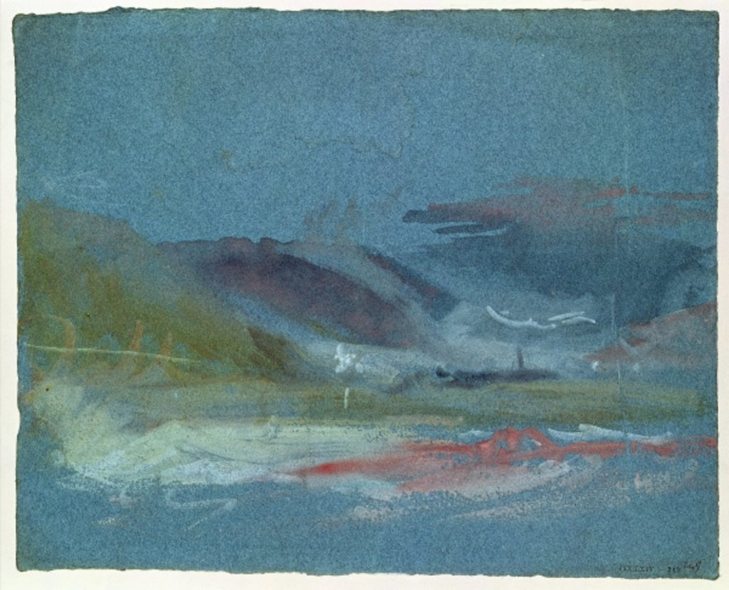 Detail of River bank by Joseph Mallord William Turner