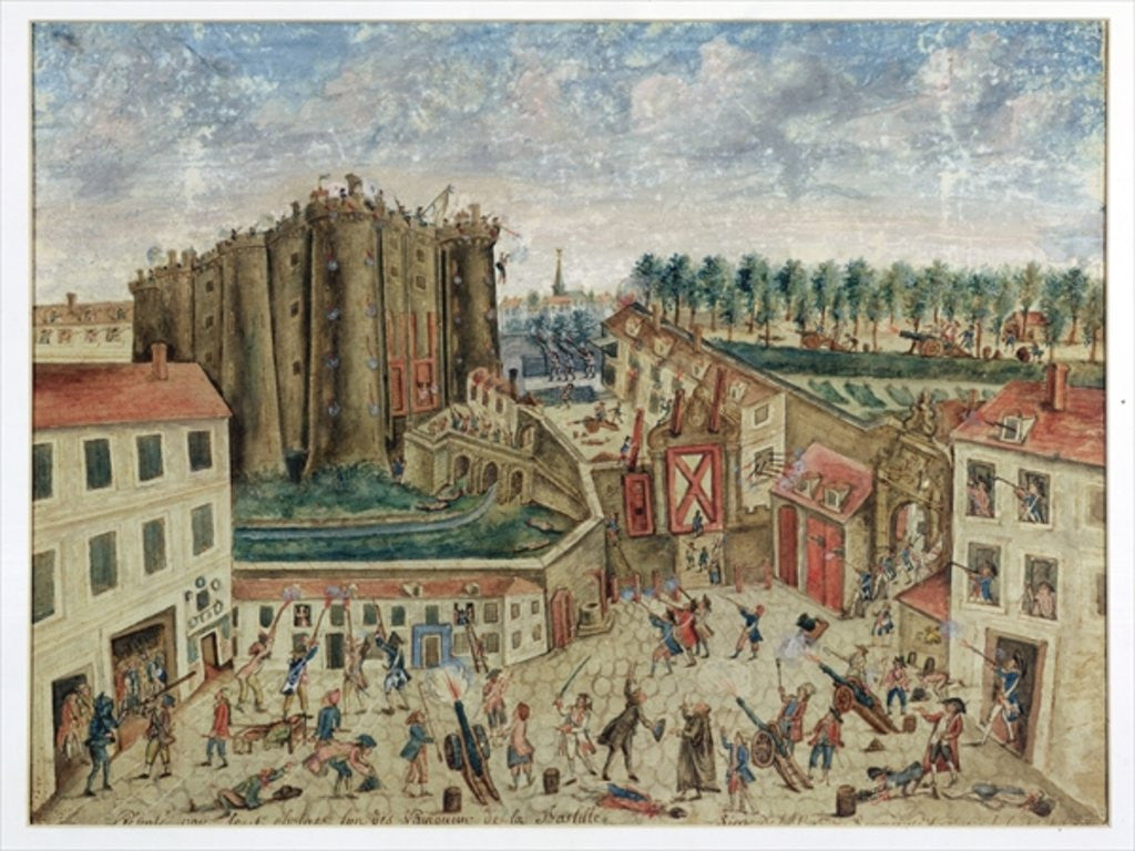 Detail of The Siege of the Bastille by Claude Cholat