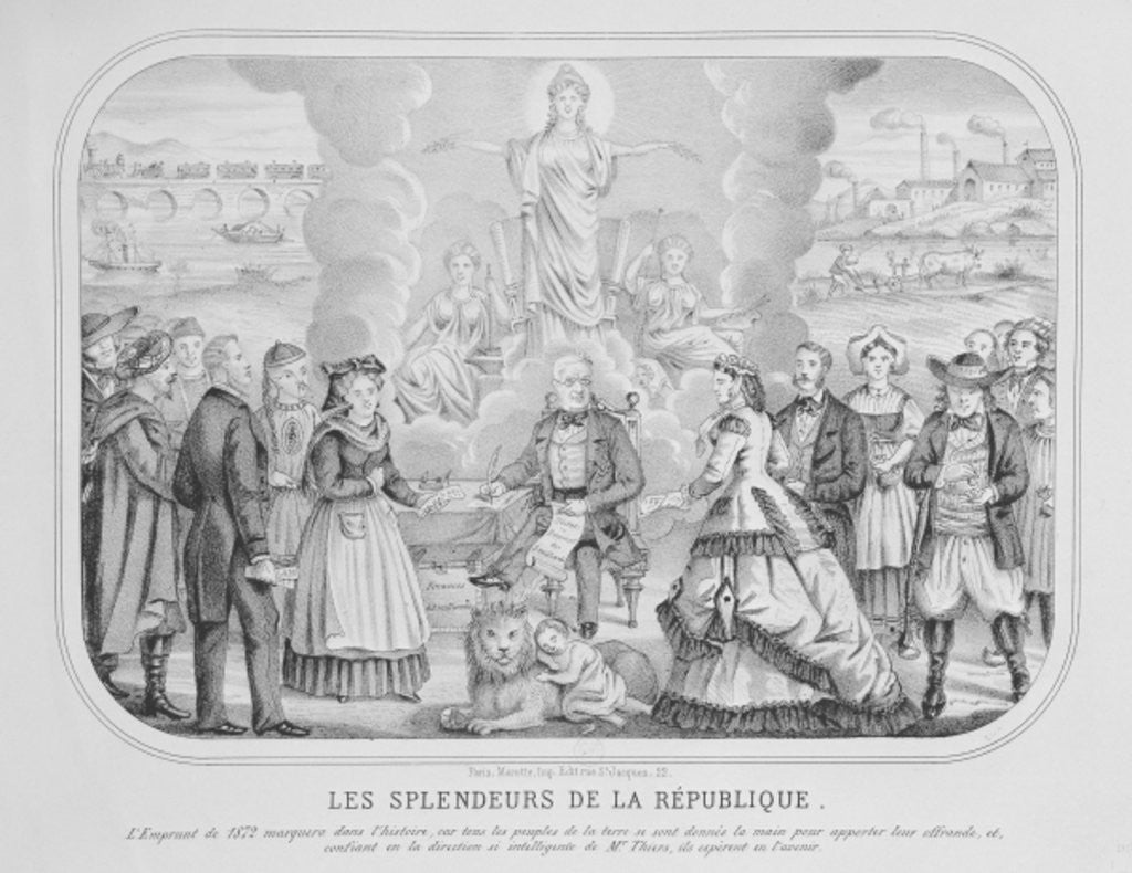 Detail of Les Splendeurs de la Republique ('The Splendours of the Republic') by French School