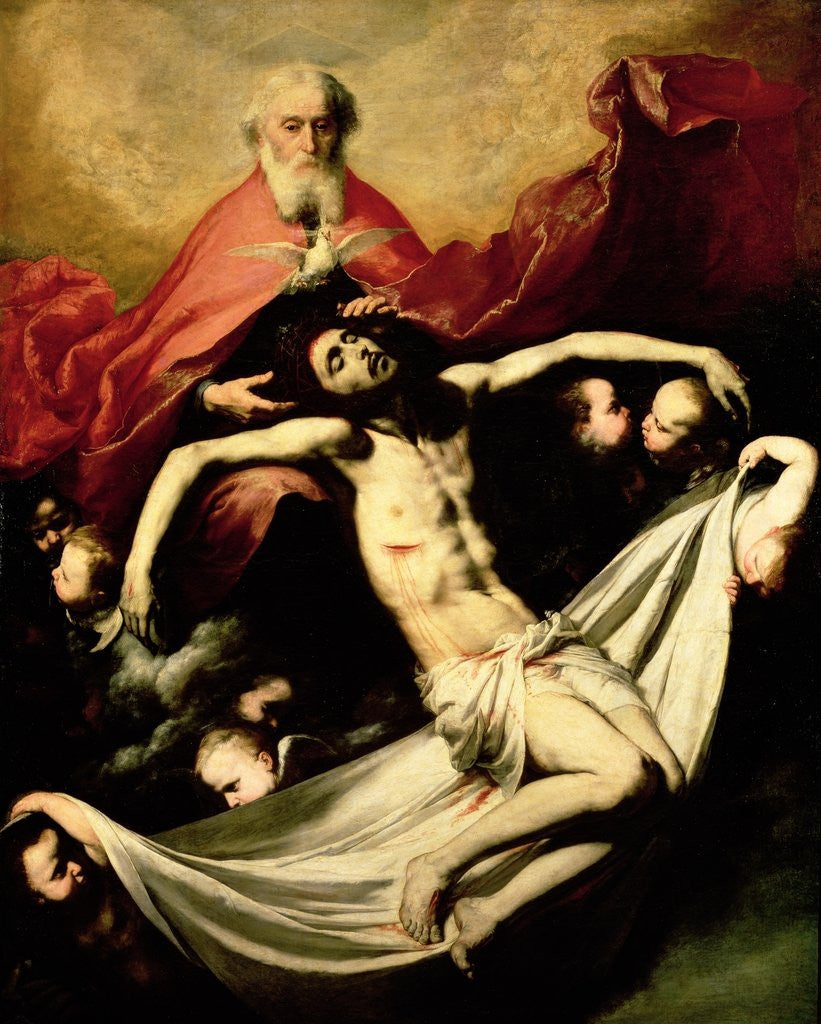 Detail of The Trinity by Jusepe de Ribera