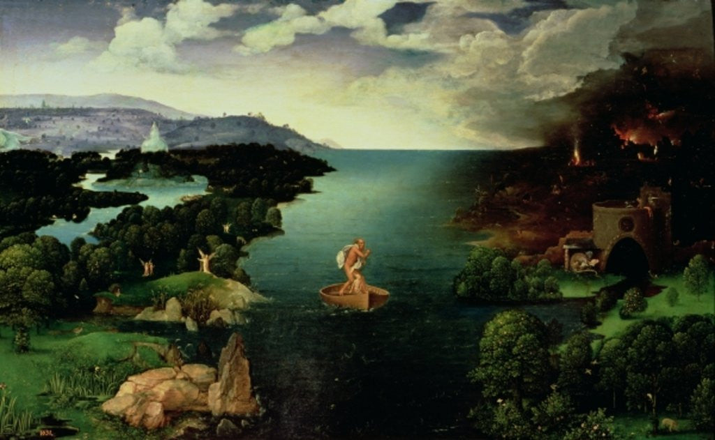 Detail of Charon Crossing the River Styx by Joachim Patenier or Patinir