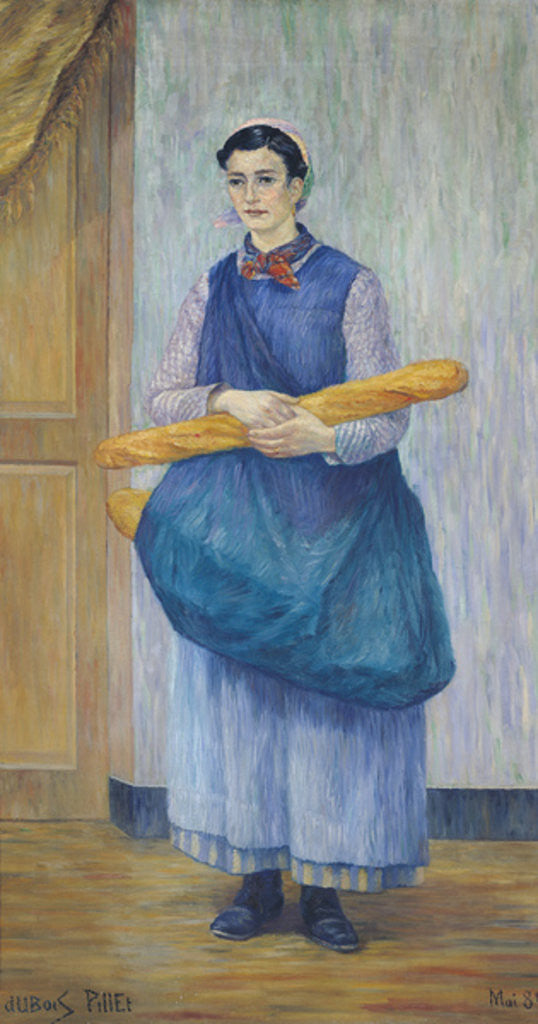 Detail of Lady Carrying Bread by Albert Dubois-Pillet