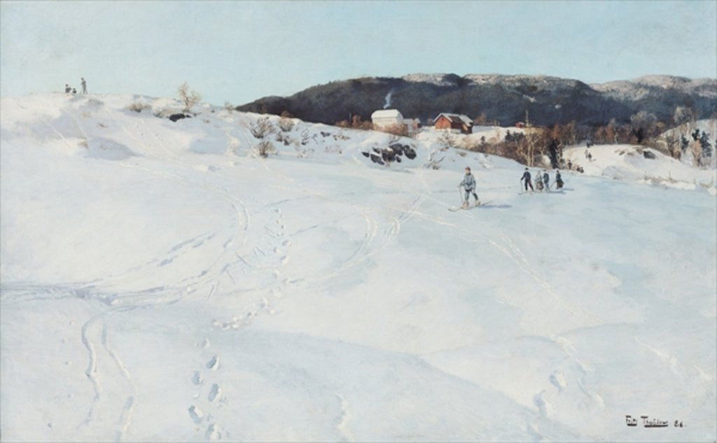 Detail of A Winter's Day in Norway by Fritz Thaulow