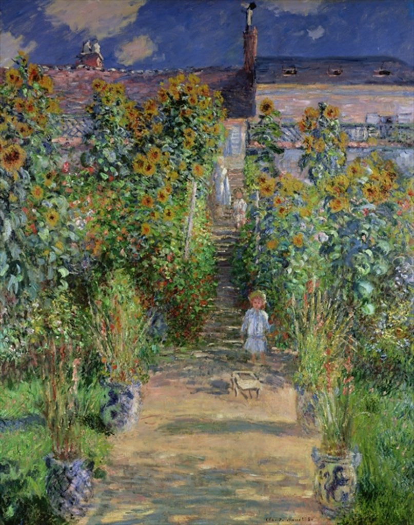 Detail of The Artist's Garden at Vetheuil by Claude Monet