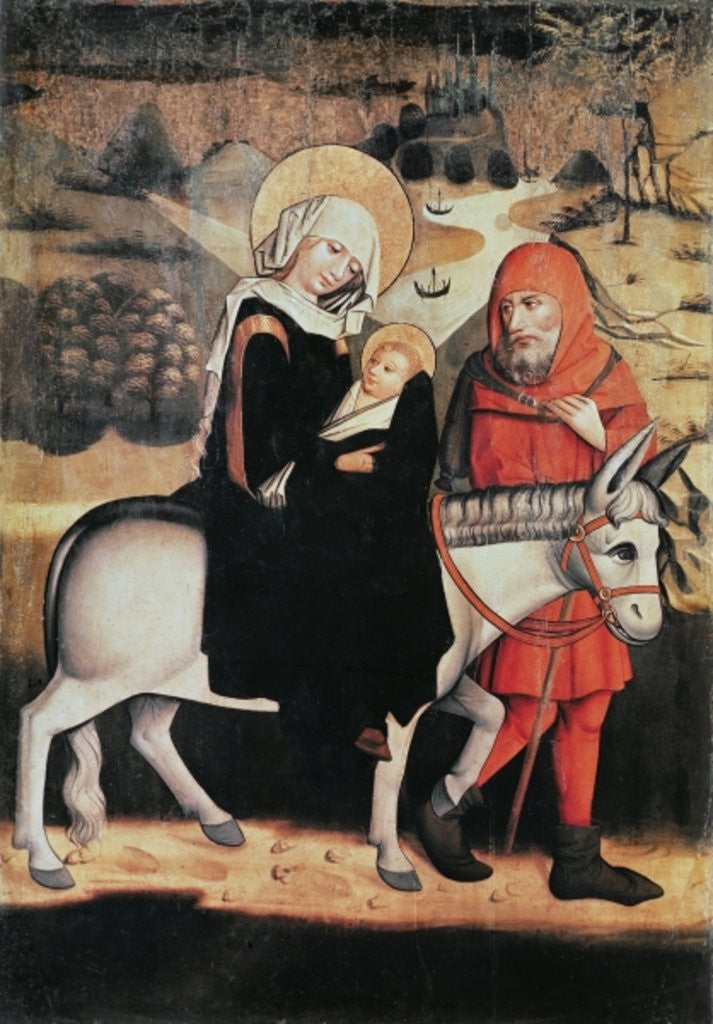 Detail of Flight Into Egypt by Master of the Lord's Passion