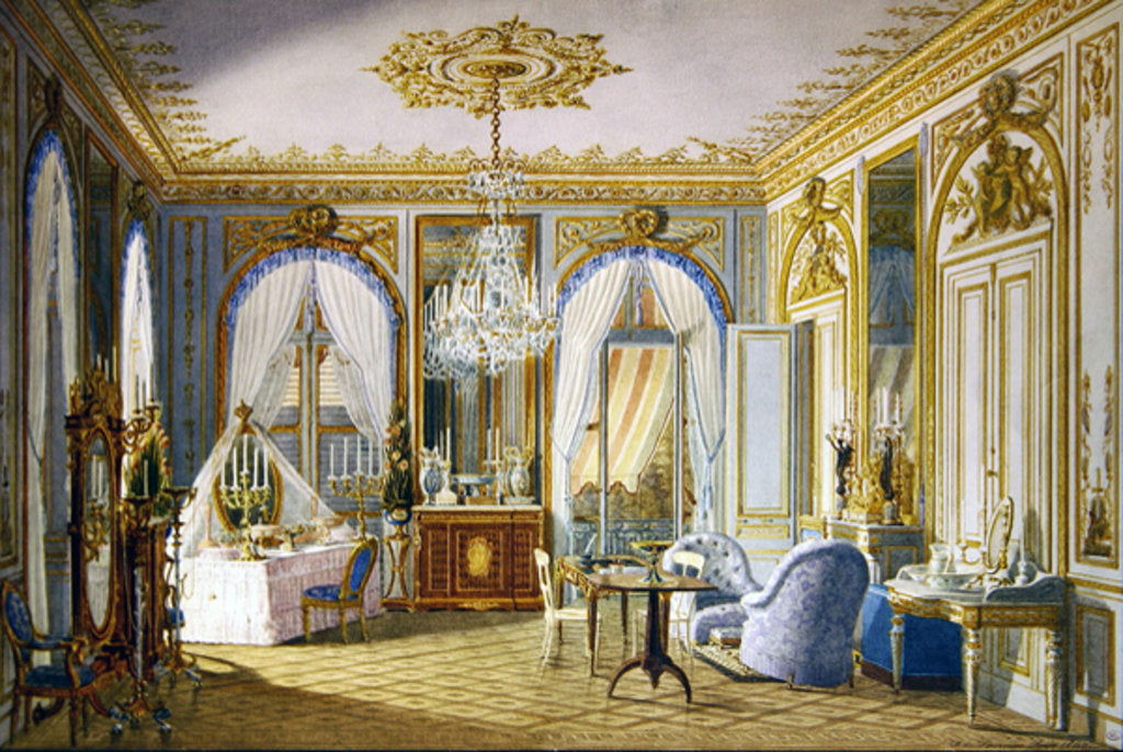 Detail of Dressing Room of the Empress Eugenie at Saint-Cloud, 1860 by Fortune de Fournier