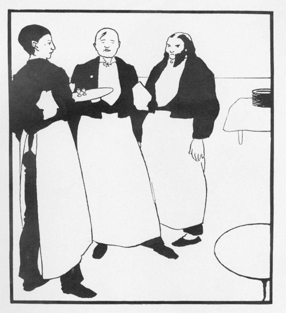 Detail of Garcons de Cafe by Aubrey Beardsley