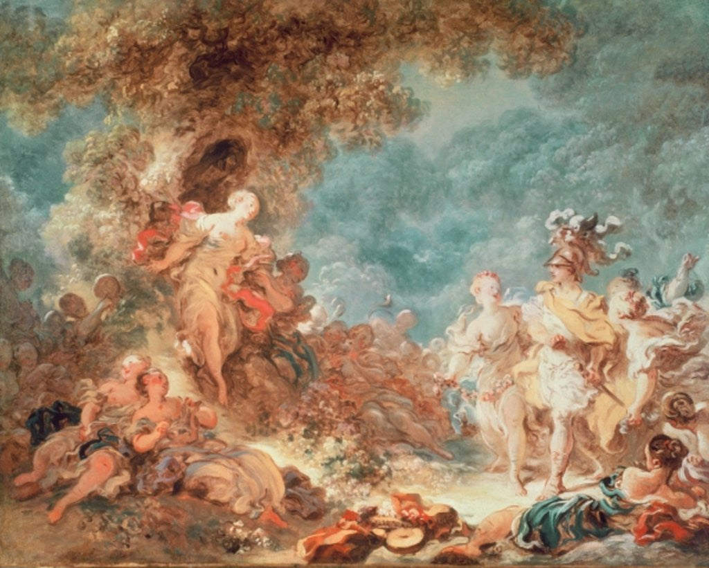 Detail of Rinaldo in the garden of the palace of Armida by Jean-Honore Fragonard