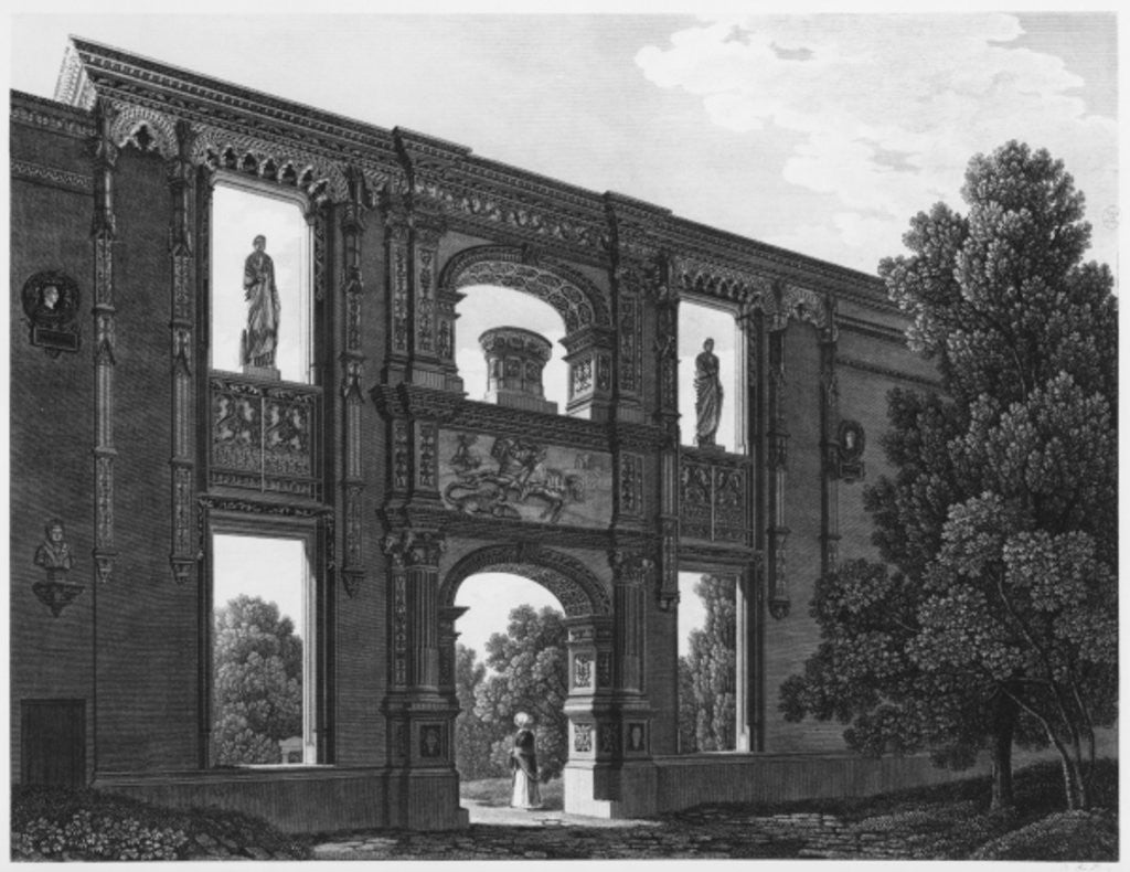 Detail of Arch of Gaillon, Musee des Monuments Francais, Paris by engraved by Jean Baptiste Baptiste Reville