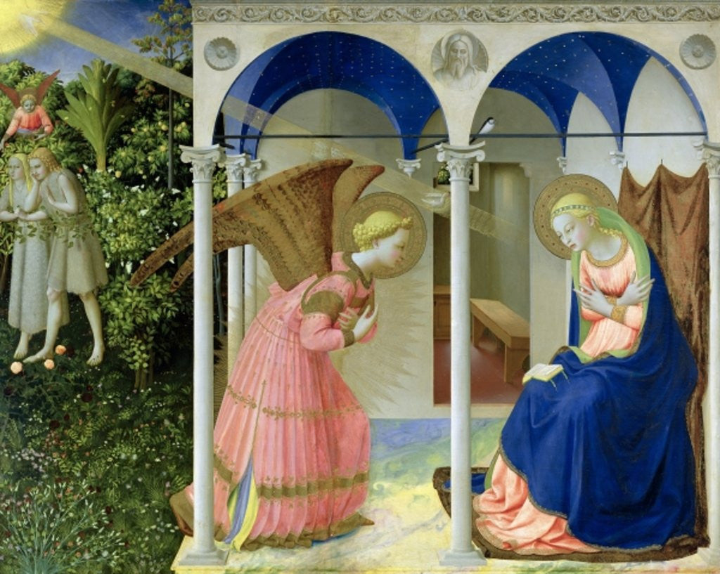 Detail of The Annunciation by Fra Angelico
