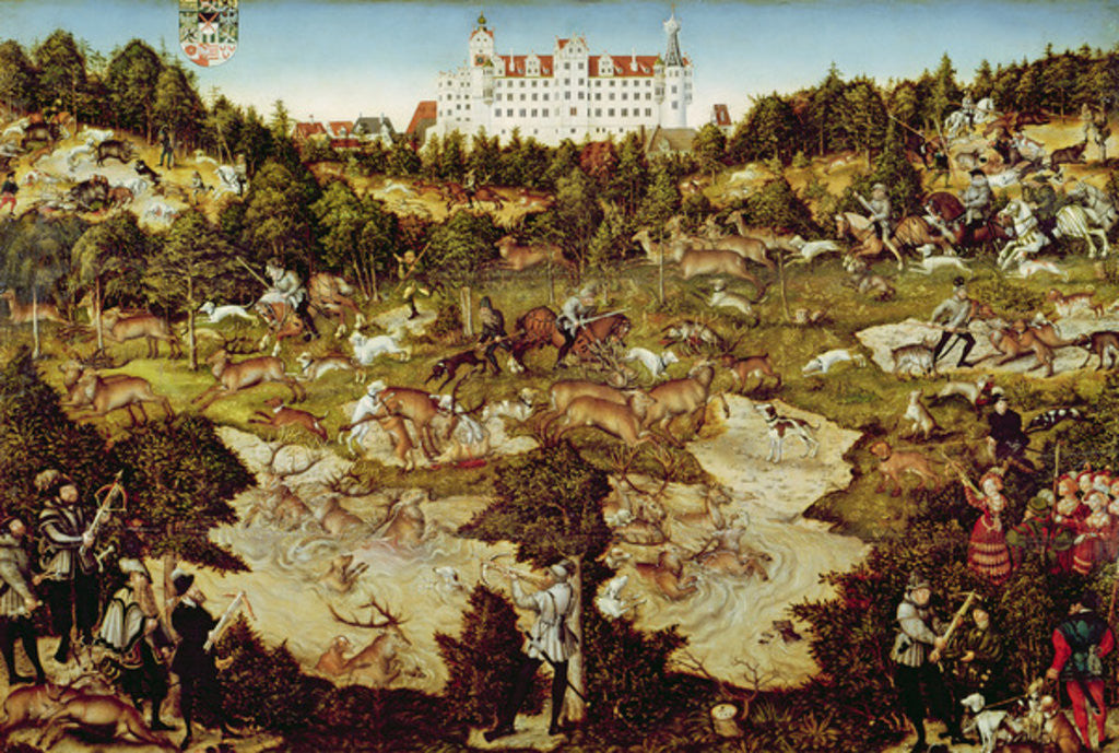 Detail of Hunt in Honour of the Emperor Charles V near Hartenfels Castle, Torgau by Lucas