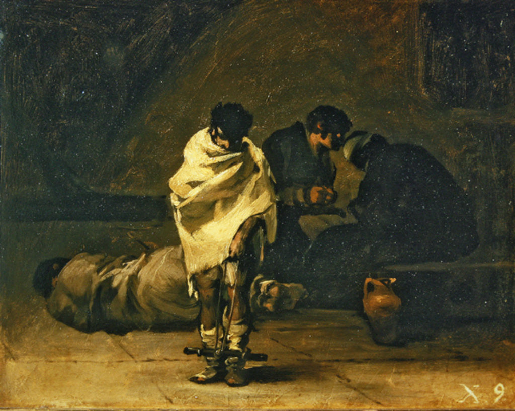 Detail of Confession in prison by Francisco Jose de Goya y Lucientes
