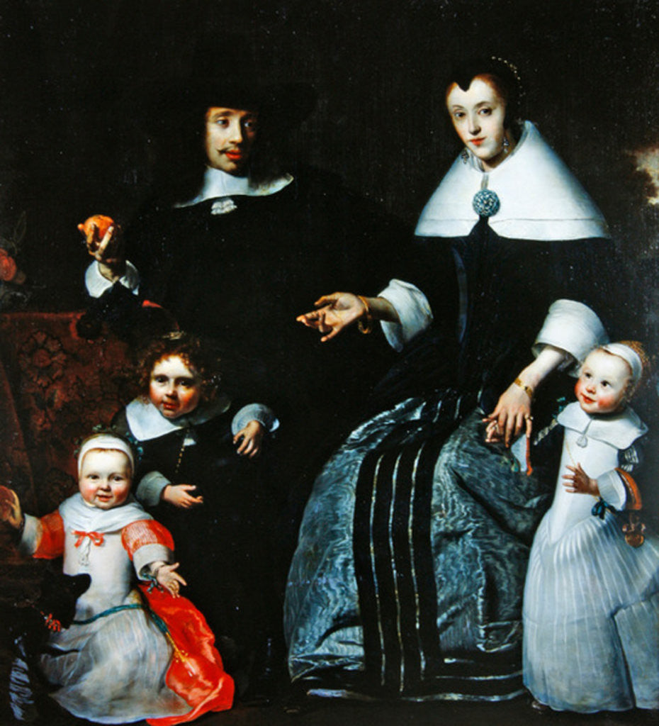 Detail of Family portrait by Cornelis Bisschop