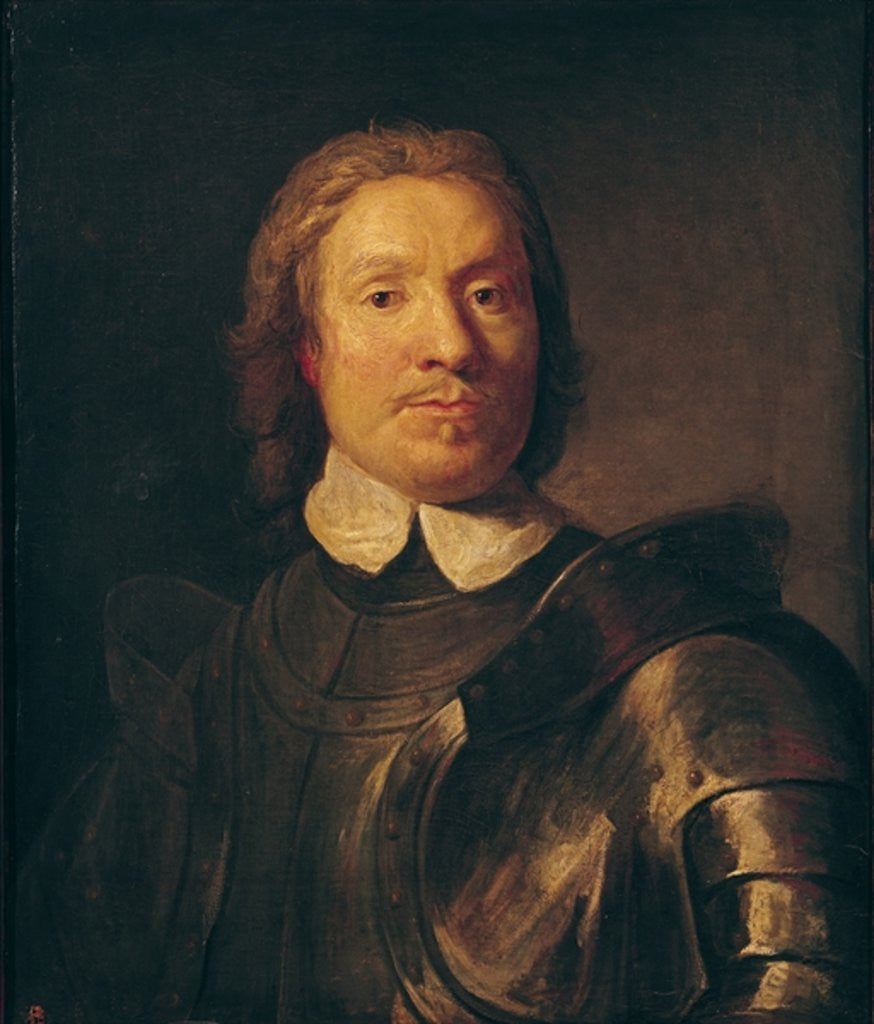 Detail of Oliver Cromwell by Gaspar de Crayer