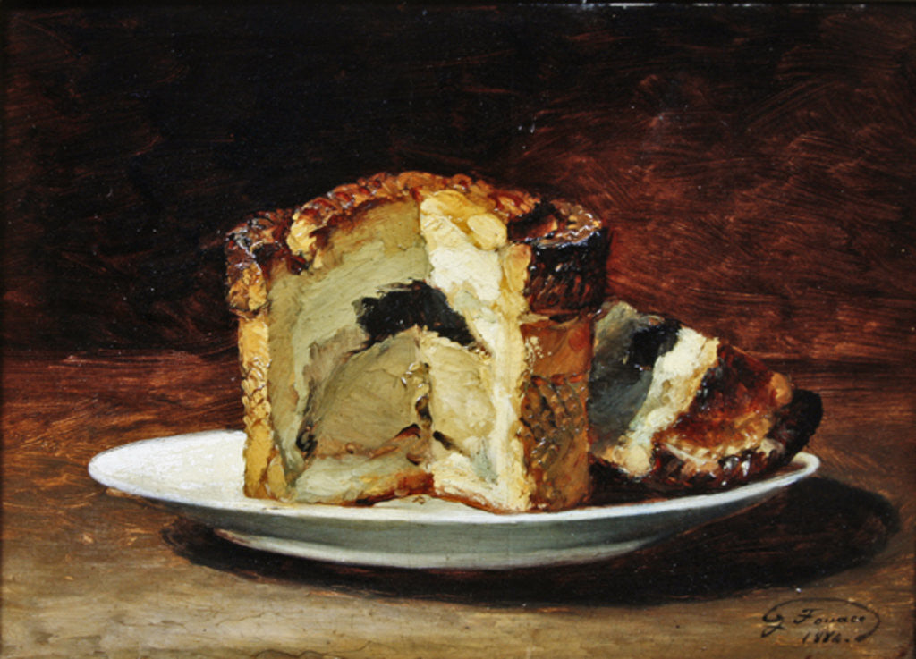 Detail of Still life of pie by Guillaume Romain Fouace