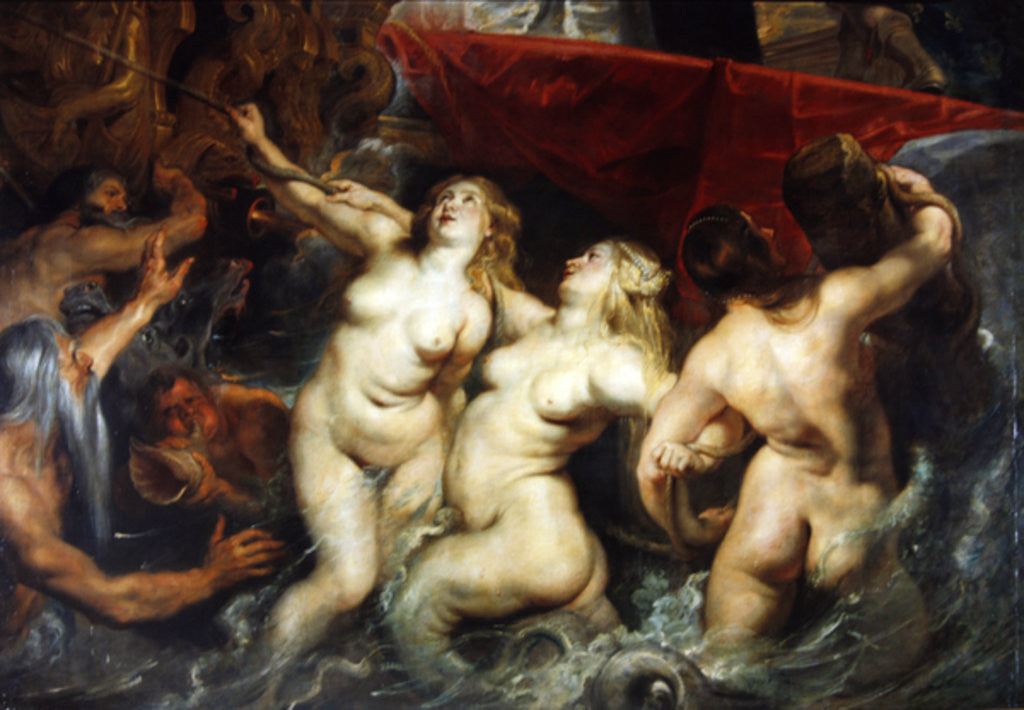 Detail of Detail of the Sirens from 'The Arrival of Marie de Medici in Marseilles' by Peter Paul Rubens
