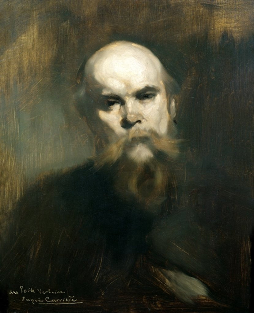 Detail of Portrait of Paul Verlaine by Eugene Carriere
