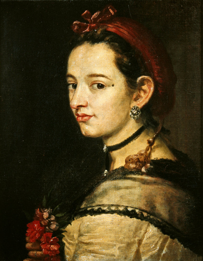 Detail of Portrait of a woman by Spanish School
