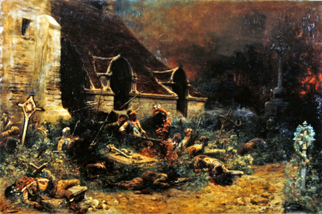 Detail of The Chouans defending their dead by Georges Clairin