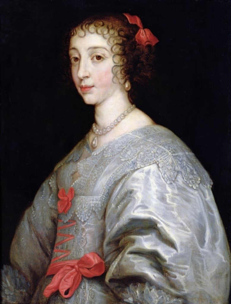 Detail of Henrietta-Maria of France by Anthony van Dyck