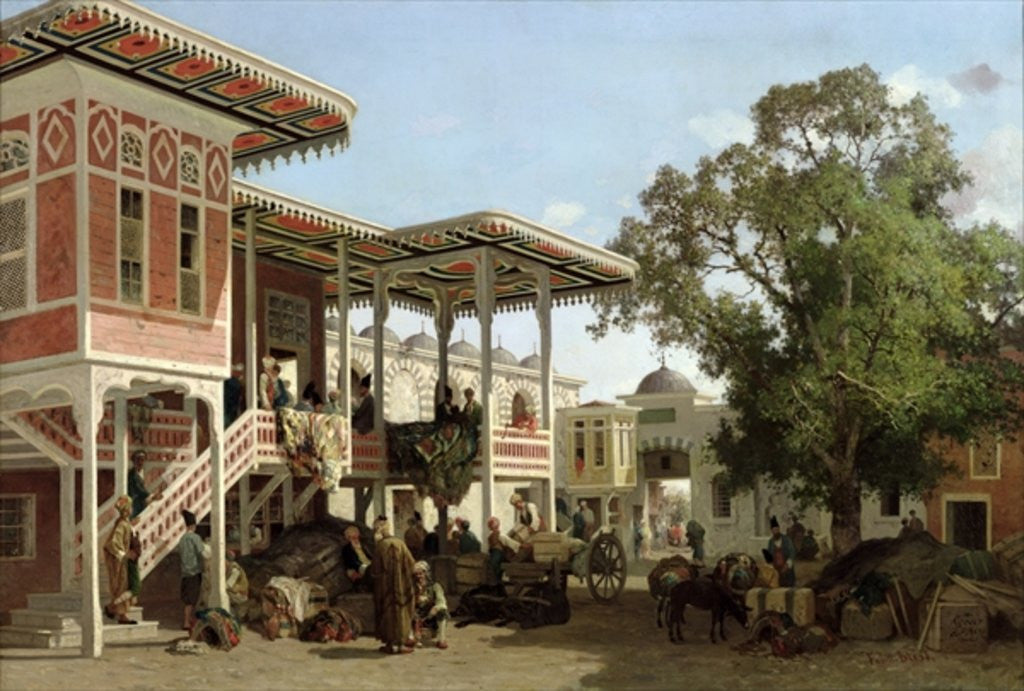 Detail of A Caravanserai in Trebizond by Fabius Brest