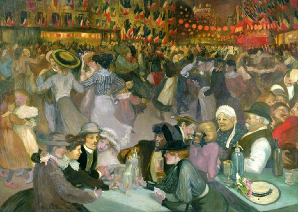 Detail of Ball on the 14th July by Theophile Alexandre Steinlen