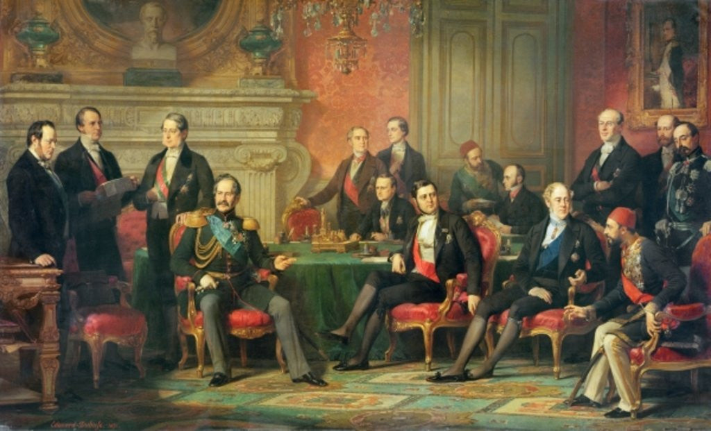 Detail of The Congress of Paris, 25 February to 30 March by Edouard Louis Dubufe