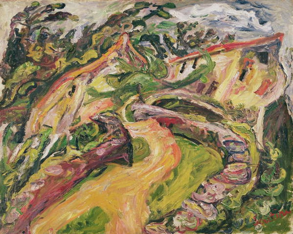 Detail of Landscape, 1919 by Chaim Soutine