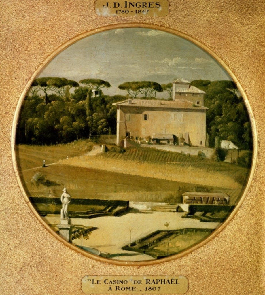Detail of 'Casino of Raphael' in the gardens of the Villa Borghese, Rome by Jean Auguste Dominique Ingres