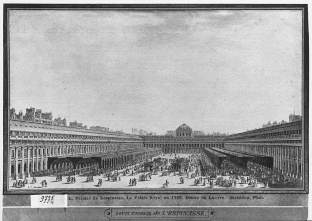 Detail of Garden of the Palais Royal by Louis-Nicolas de Lespinasse