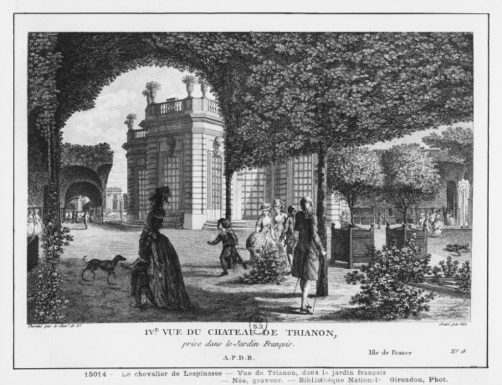 Detail of Fourth view of Trianon, taken in the French garden by Louis-Nicolas de Lespinasse