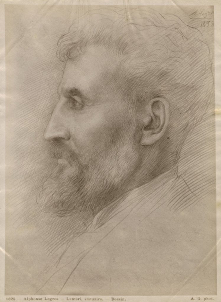 Detail of Edouard Lanteri by Alphonse Legros
