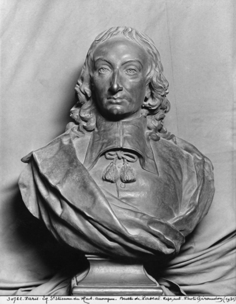 Detail of Blaise Pascal by French School
